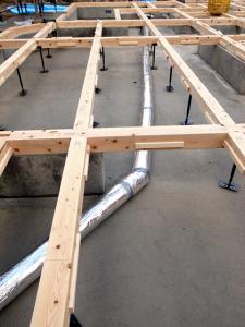 全館暖房システム-工事写真